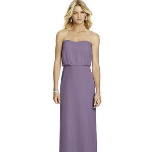 After Six womens strapless chiffon dress